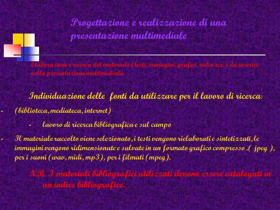 Progettazione e realizzazione di una presentazione multimediale