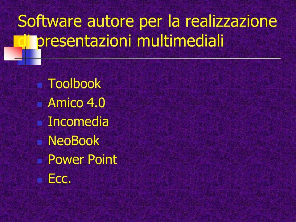 Software autore per la realizzazione di presentazioni multimediali