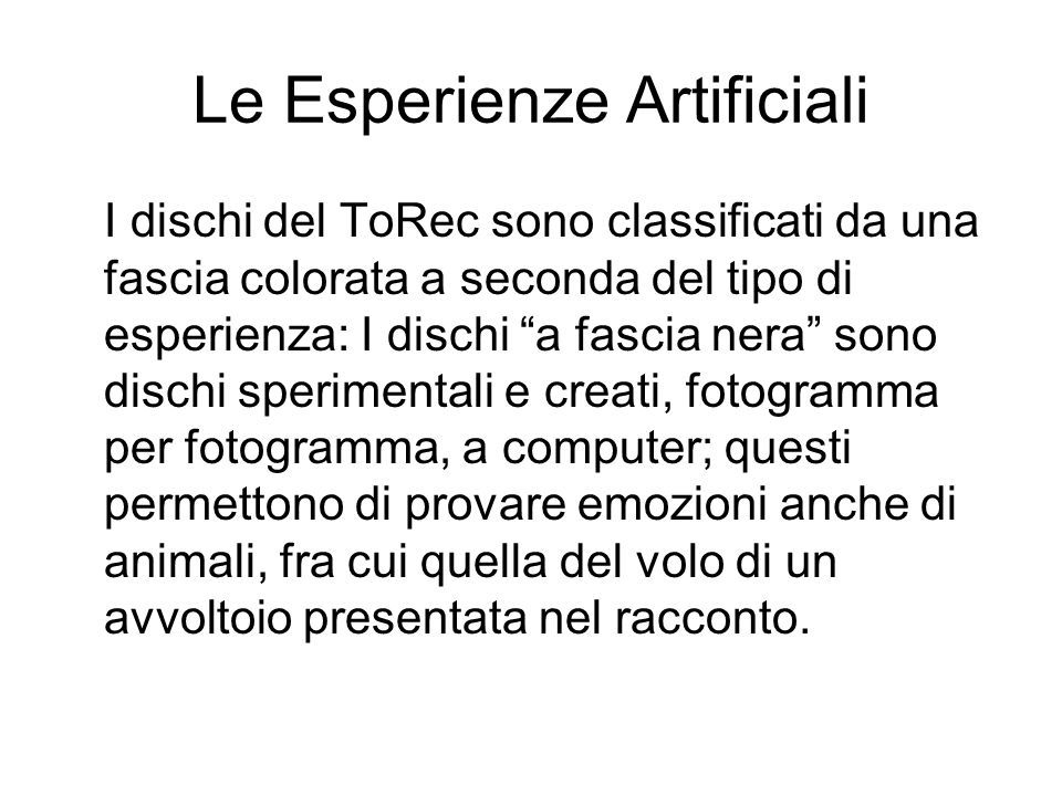 Le Esperienze Artificiali