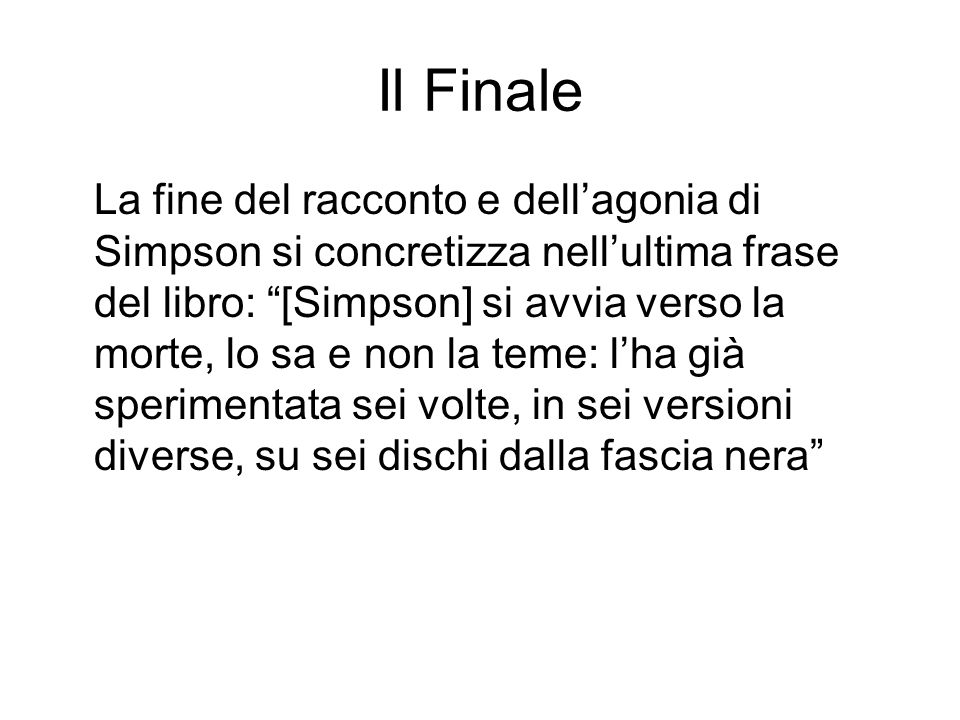 Il Finale