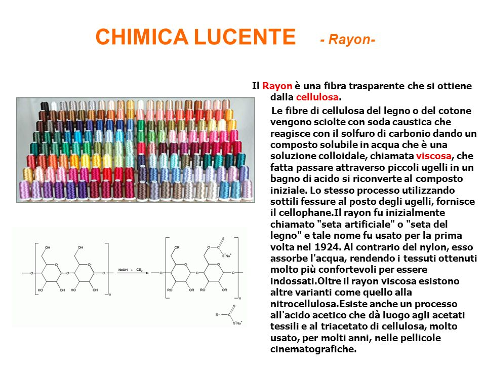 CHIMICA LUCENTE - Rayon-