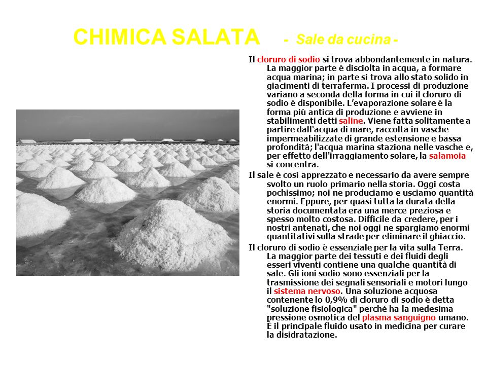 CHIMICA SALATA - Sale da cucina -