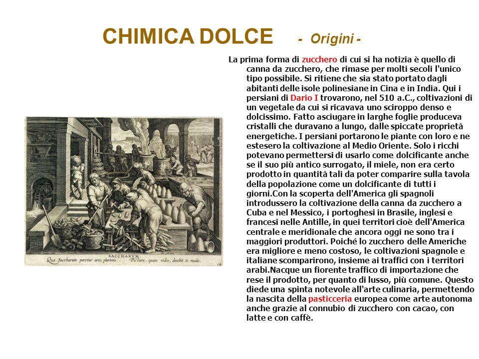 CHIMICA DOLCE - Origini -