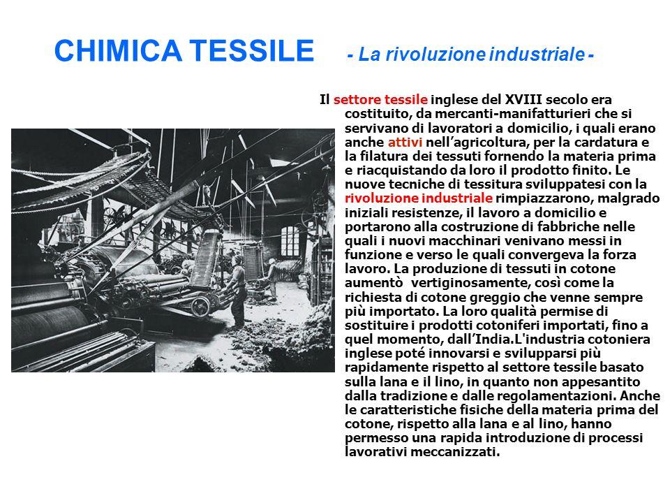 CHIMICA TESSILE - La rivoluzione industriale -