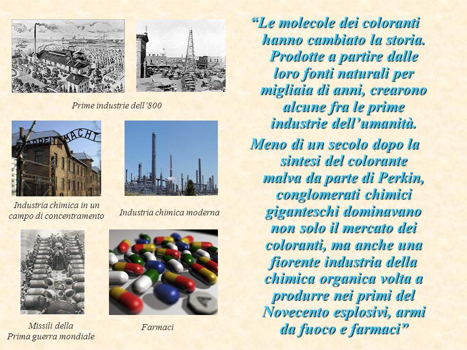 Le molecole dei coloranti hanno cambiato la storia