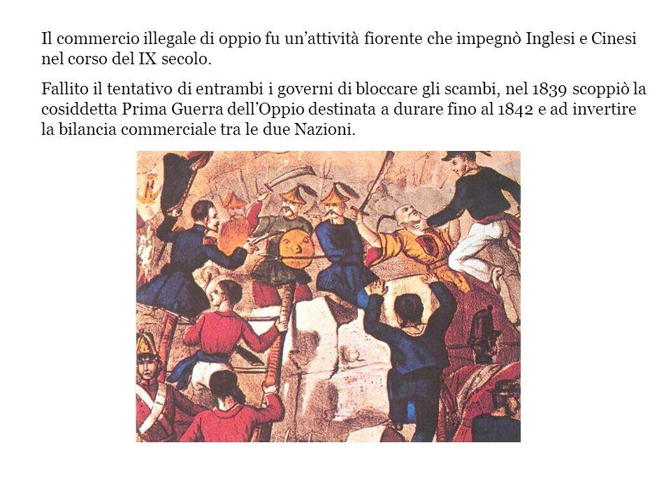 Il commercio illegale di oppio fu un'attività fiorente che impegnò Inglesi e Cinesi nel corso del IX secolo.