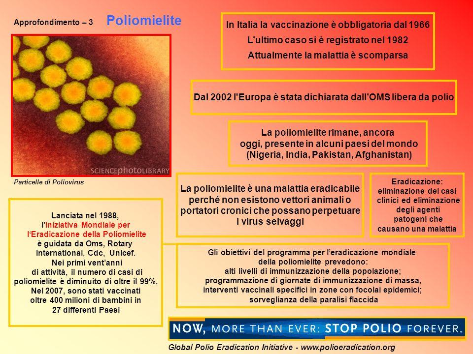 In Italia la vaccinazione è obbligatoria dal 1966