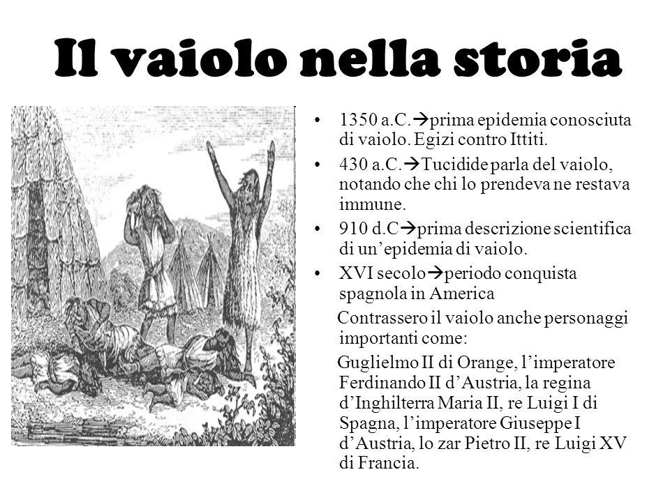 Il vaiolo nella storia 1350 a.C.prima epidemia conosciuta di vaiolo. Egizi contro Ittiti.