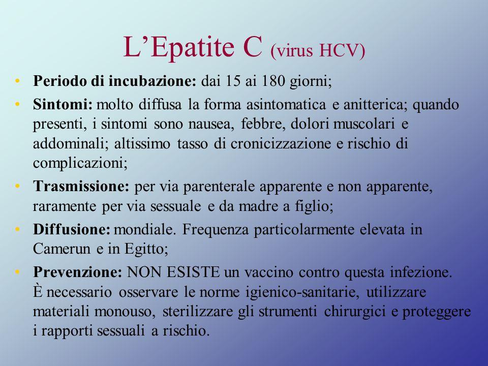 L'Epatite C (virus HCV)