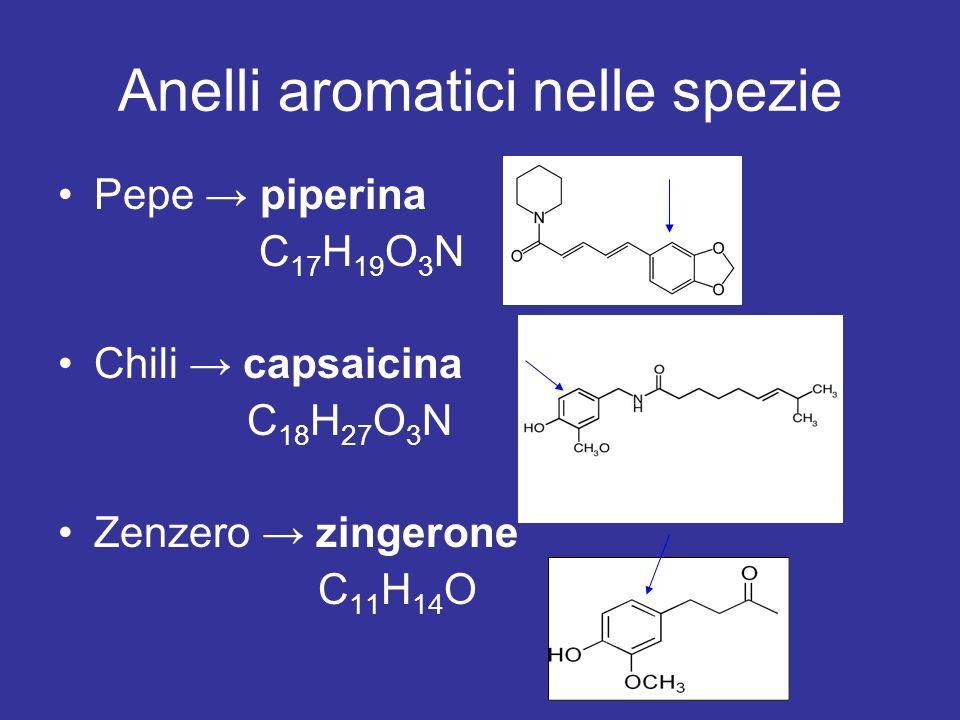 Anelli aromatici nelle spezie