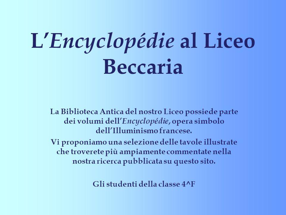 L'Encyclopédie al Liceo Beccaria