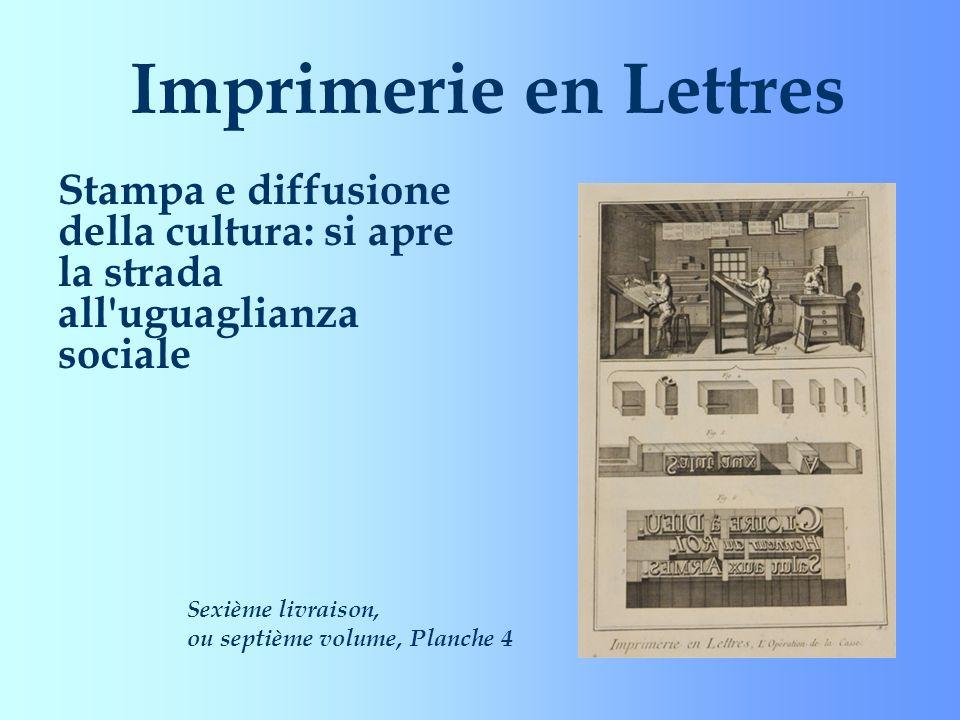 Imprimerie en Lettres Stampa e diffusione della cultura: si apre la strada all uguaglianza sociale.