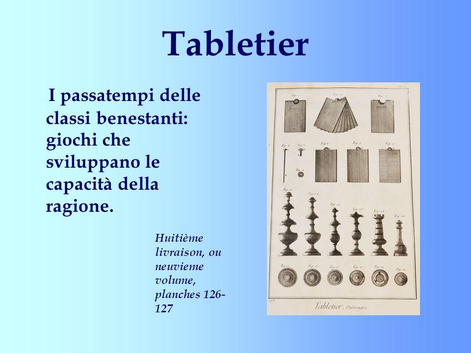Tabletier I passatempi delle classi benestanti: giochi che sviluppano le capacità della ragione.