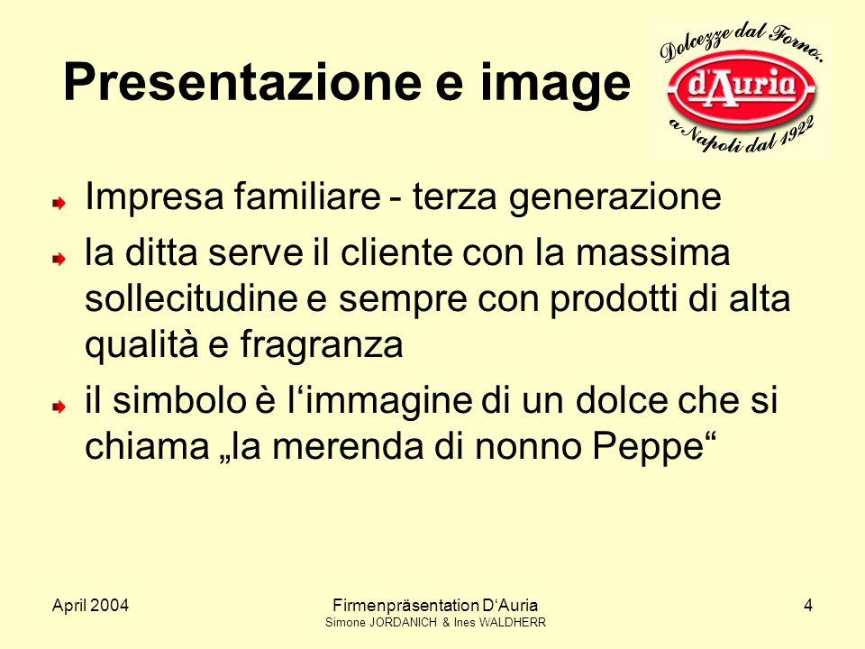 Presentazione e image Impresa familiare - terza generazione