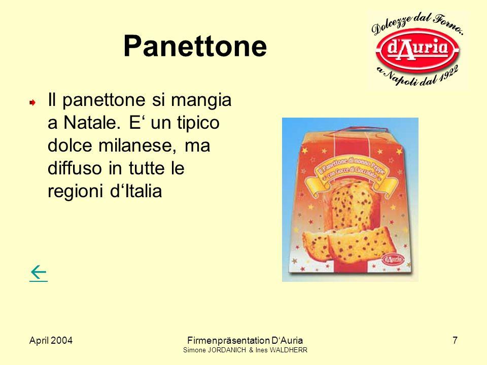 Panettone Il panettone si mangia a Natale. E' un tipico dolce milanese, ma diffuso in tutte le regioni d'Italia.