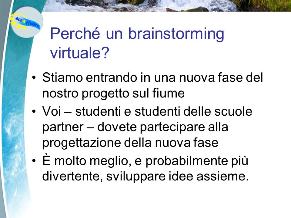 Perché un brainstorming virtuale