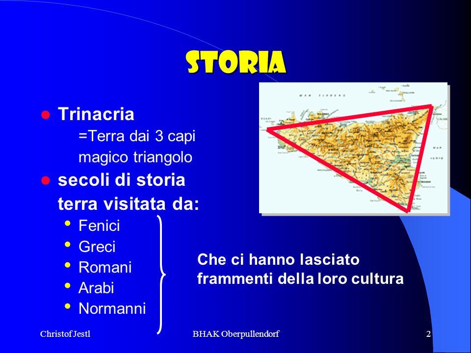 Storia Trinacria secoli di storia =Terra dai 3 capi magico triangolo
