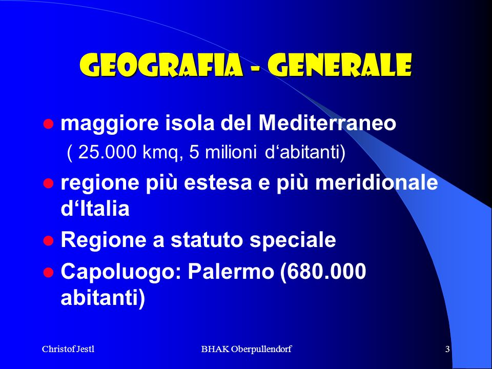 Geografia - Generale maggiore isola del Mediterraneo