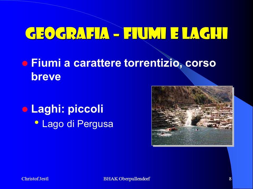 Geografia – Fiumi e laghi