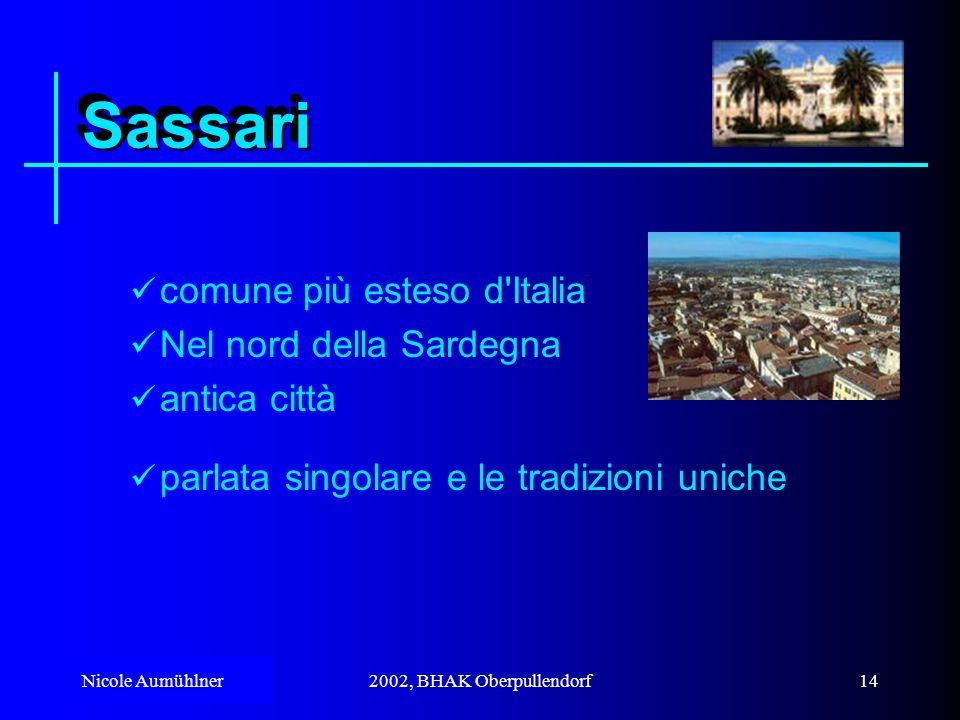 Sassari comune più esteso d Italia Nel nord della Sardegna