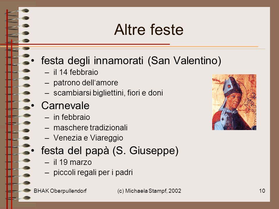 Altre feste festa degli innamorati (San Valentino) Carnevale