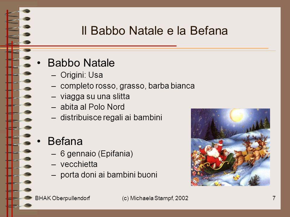 Il Babbo Natale e la Befana