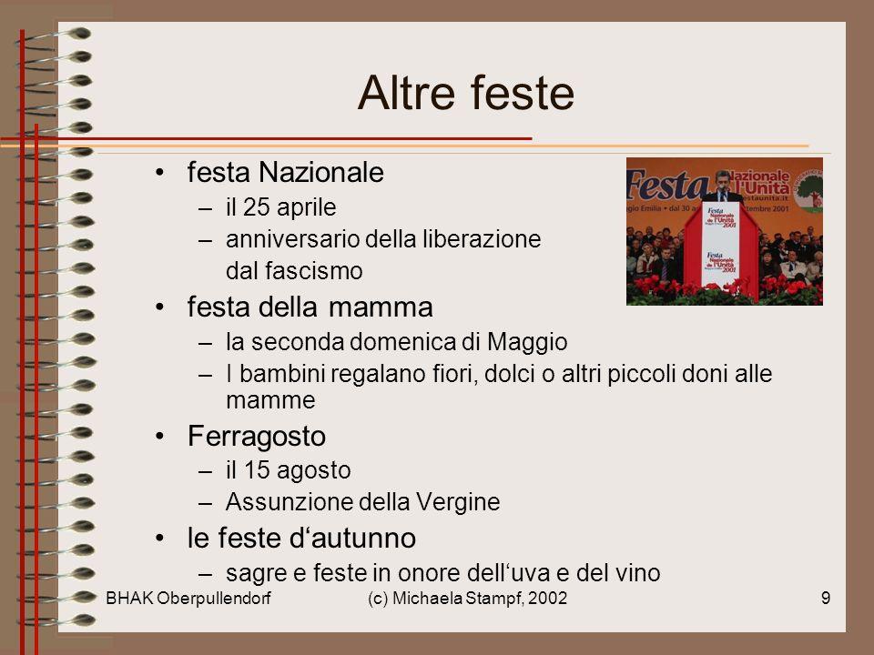 Altre feste festa Nazionale festa della mamma Ferragosto