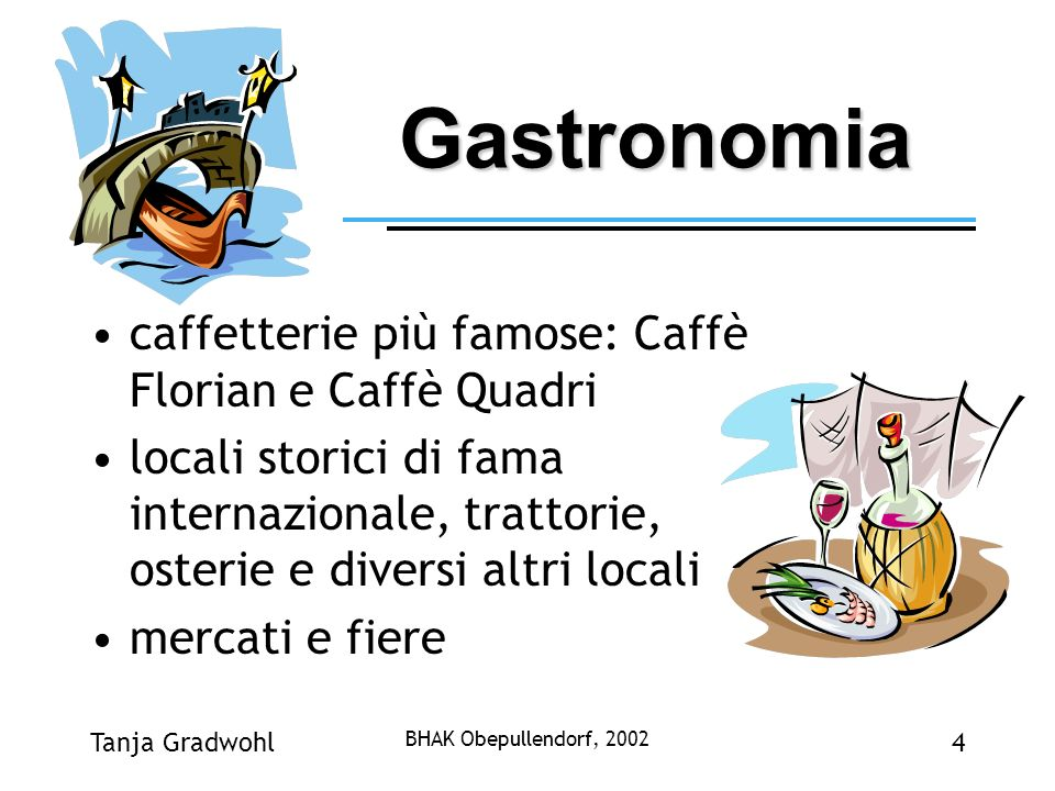 Gastronomia caffetterie più famose: Caffè Florian e Caffè Quadri