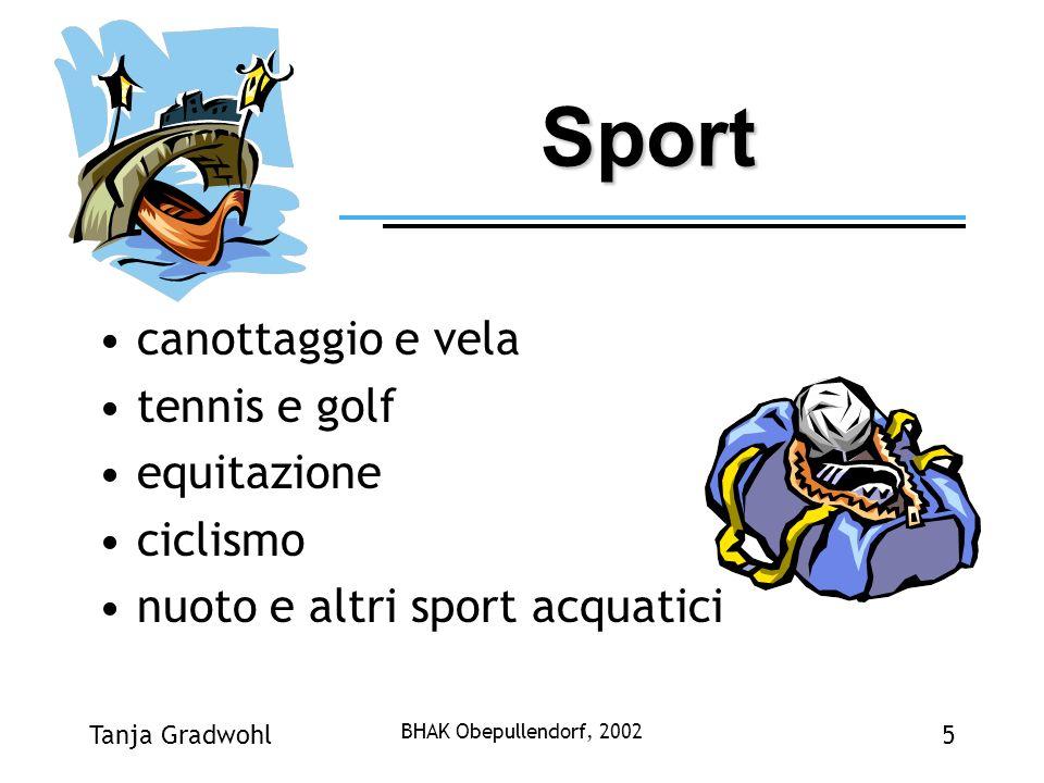 Sport canottaggio e vela tennis e golf equitazione ciclismo