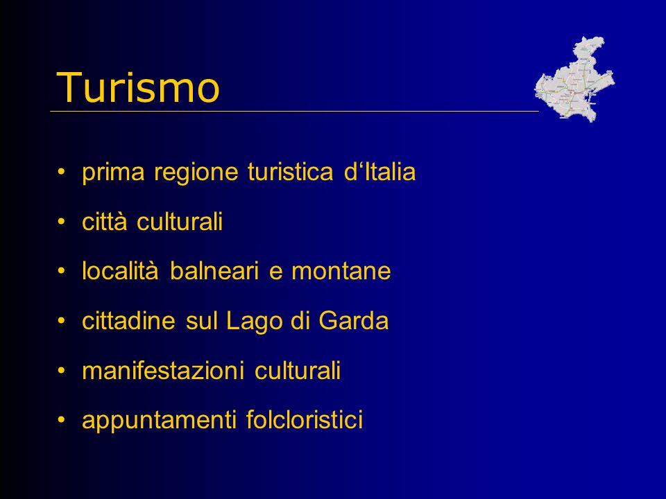 Turismo prima regione turistica d'Italia città culturali