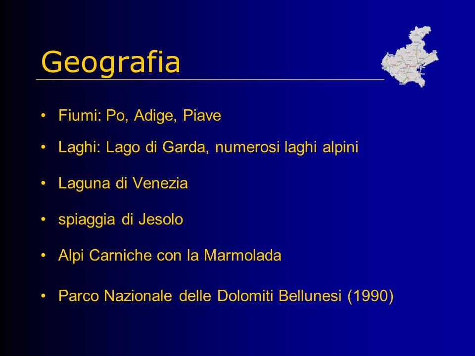 Geografia Fiumi: Po, Adige, Piave