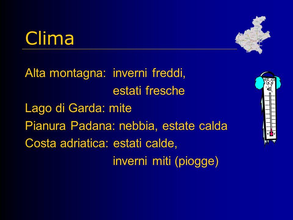 Clima Alta montagna: inverni freddi, estati fresche