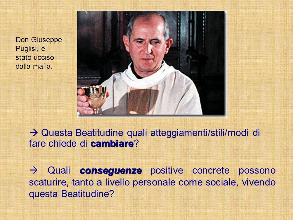 Don Giuseppe Puglisi, è stato ucciso dalla mafia.