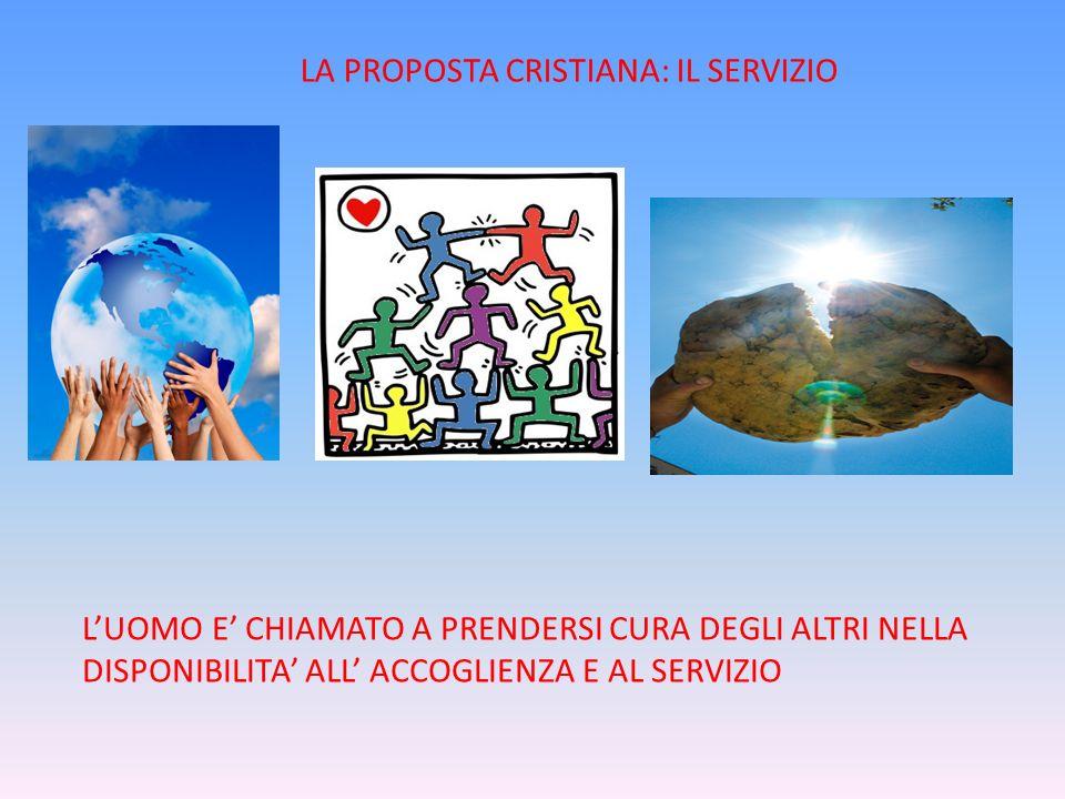 LA PROPOSTA CRISTIANA: IL SERVIZIO