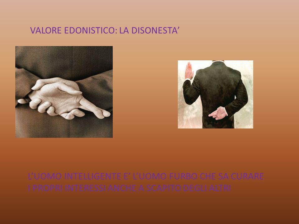 VALORE EDONISTICO: LA DISONESTA'