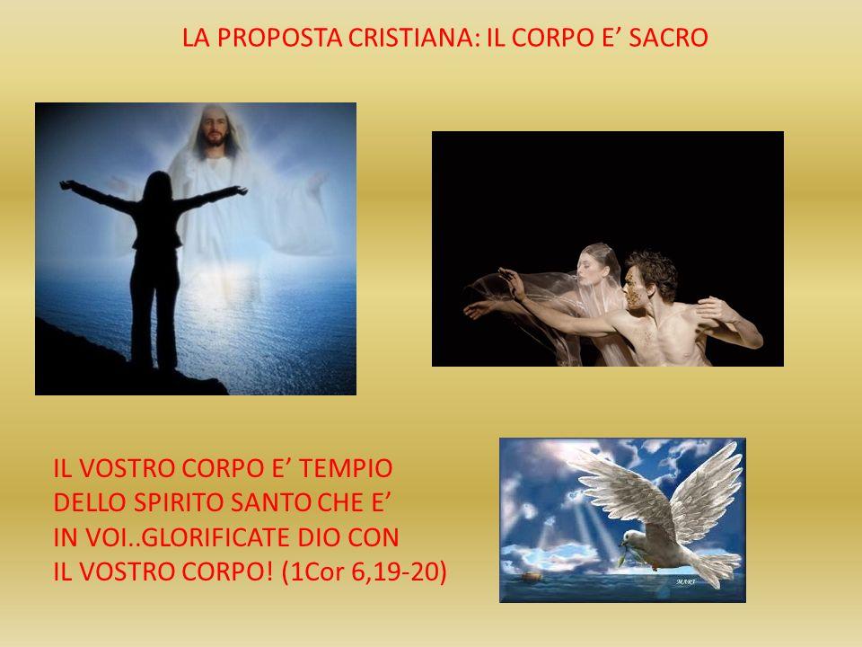 LA PROPOSTA CRISTIANA: IL CORPO E' SACRO