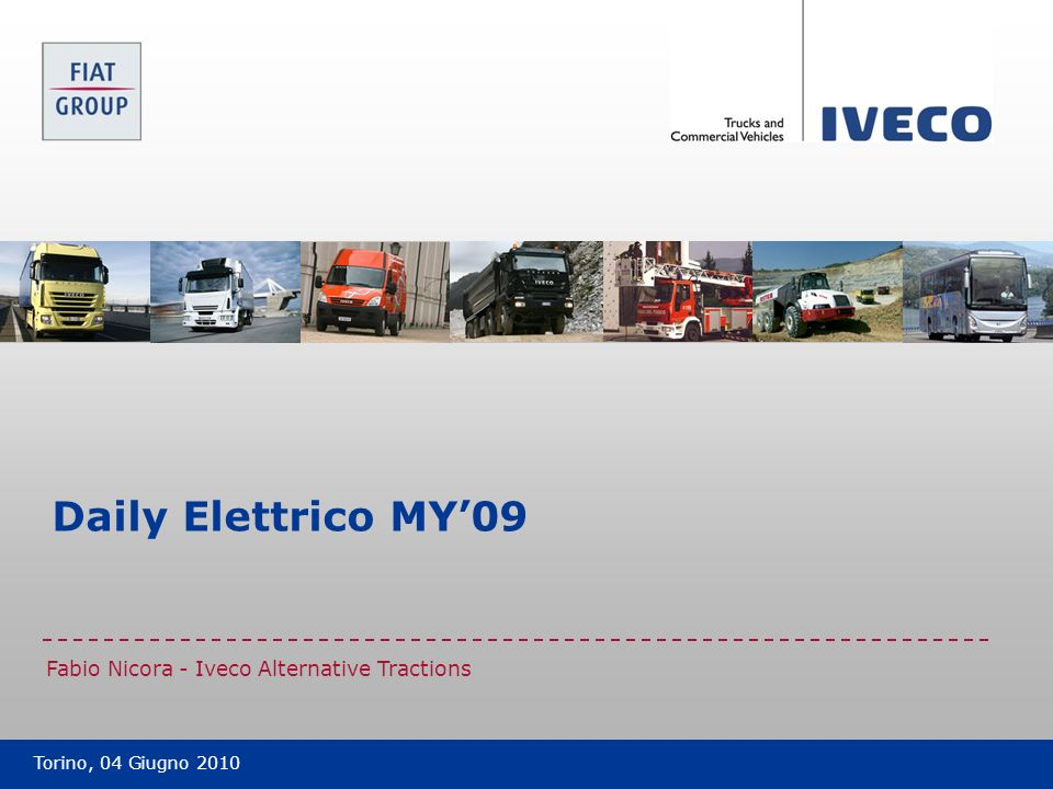 Daily Elettrico MY'09 Fabio Nicora - Iveco Alternative Tractions