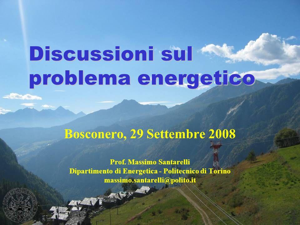 Discussioni sul problema energetico