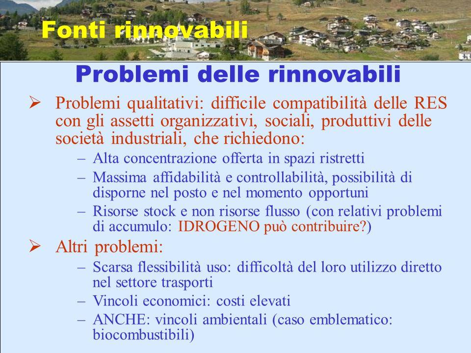 Problemi delle rinnovabili
