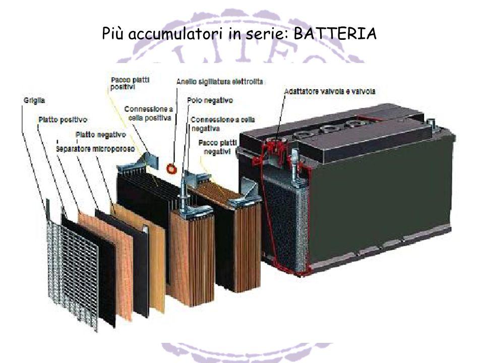Più accumulatori in serie: BATTERIA