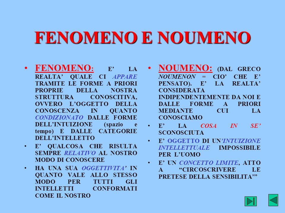 FENOMENO E NOUMENO