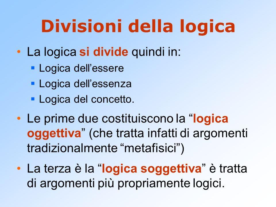 Divisioni della logica