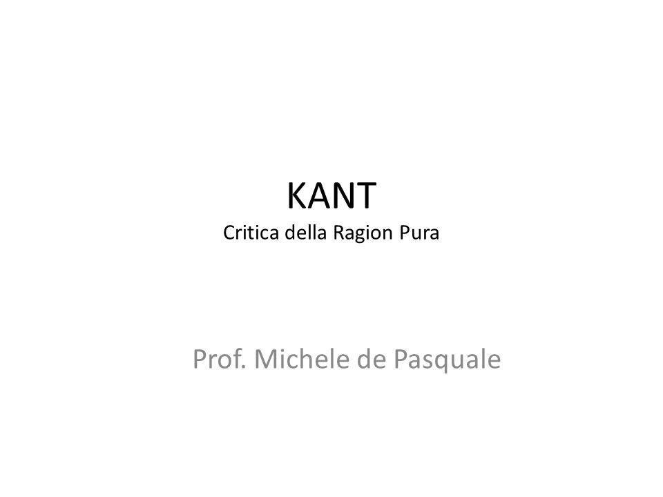 KANT Critica della Ragion Pura