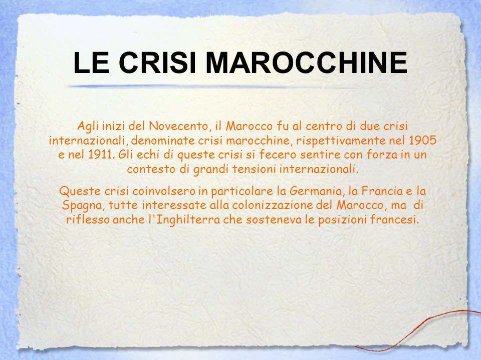 LE CRISI MAROCCHINE