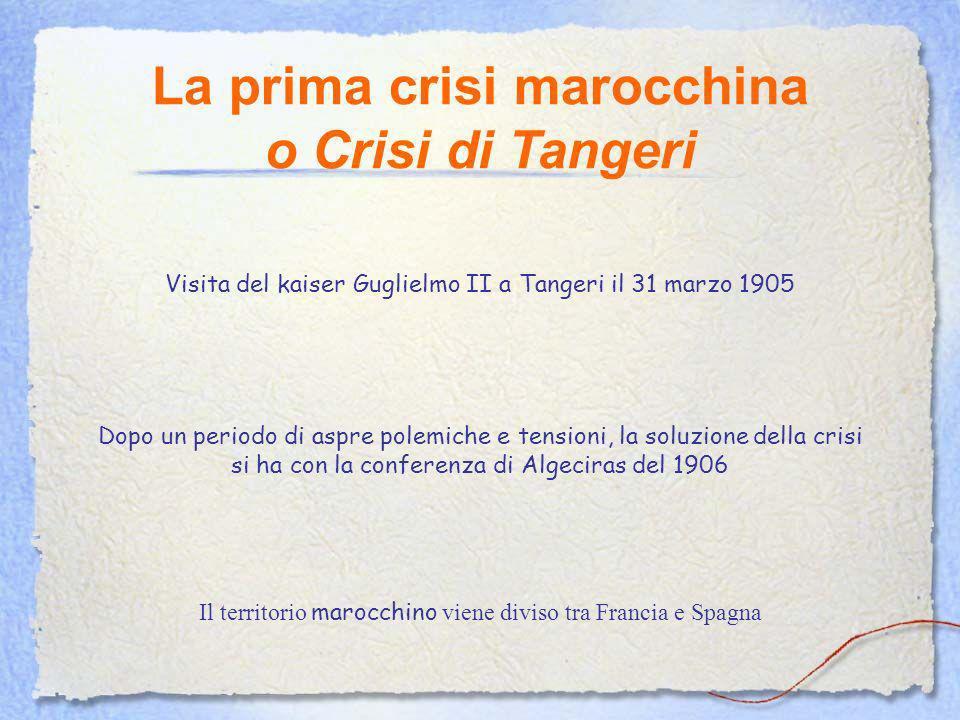 La prima crisi marocchina o Crisi di Tangeri
