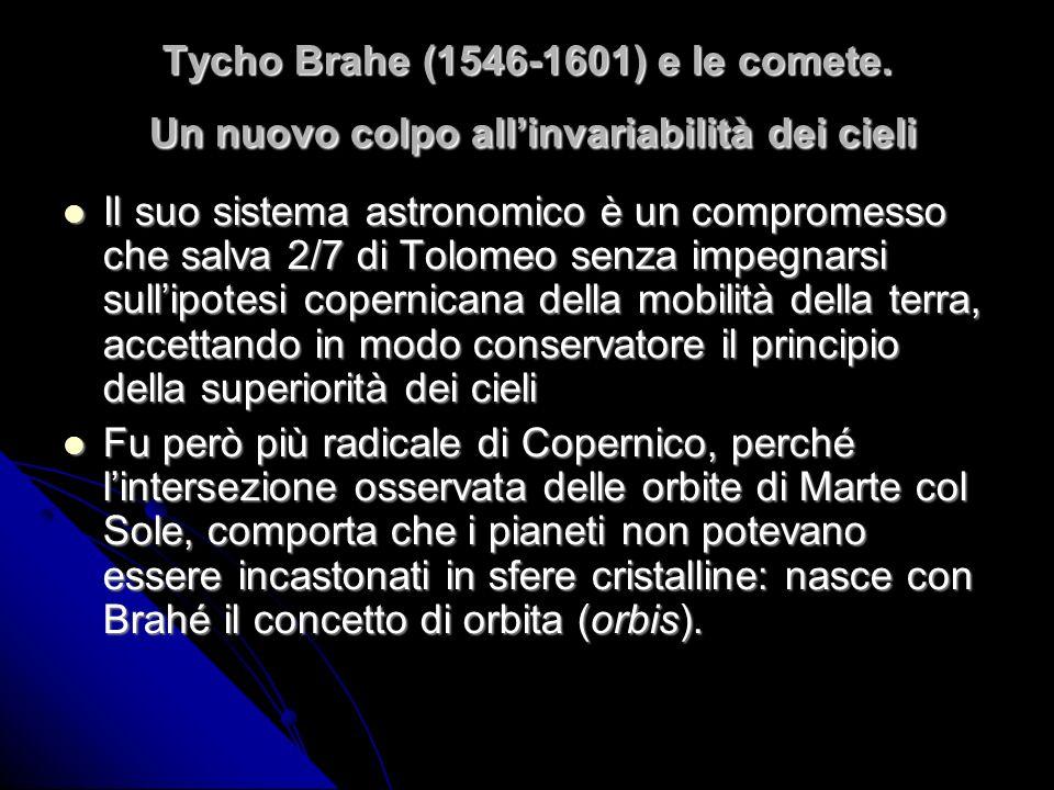 Tycho Brahe (1546-1601) e le comete