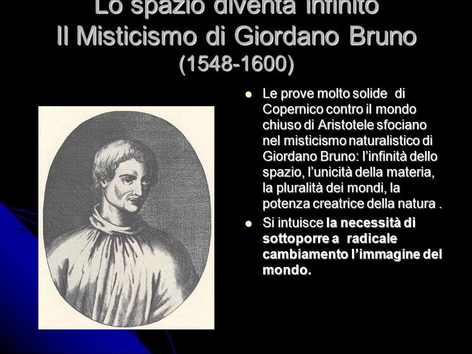 Lo spazio diventa infinito Il Misticismo di Giordano Bruno (1548-1600)