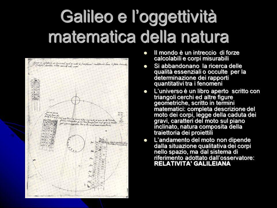 Galileo e l'oggettività matematica della natura