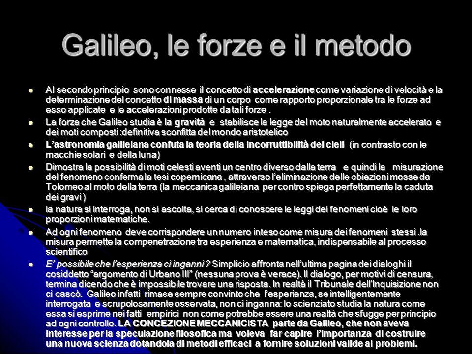 Galileo, le forze e il metodo
