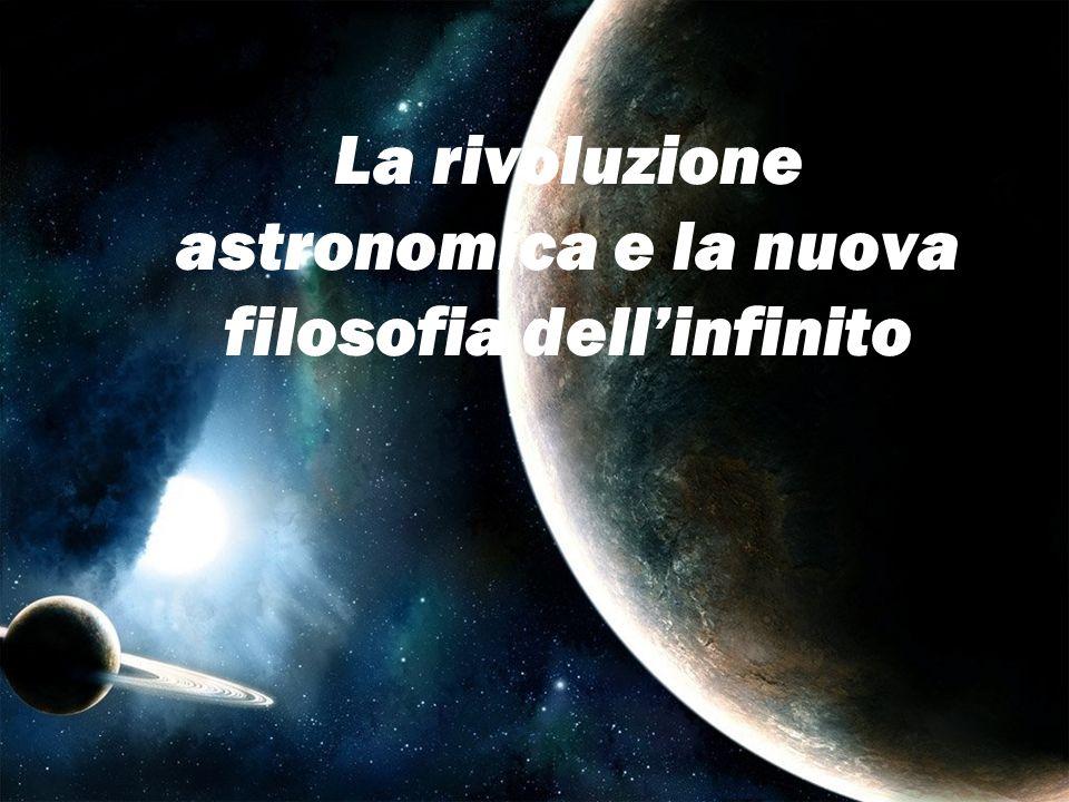 La rivoluzione astronomica e la nuova filosofia dell'infinito
